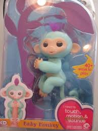 FINGERLINGS Zoe Interactive Turquois Baby Finger Monkey