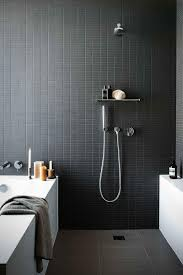 Bathroom Wall Tile Material by Bathroom Dazzling Cool Black White Bathroom Dark Tiles Bath