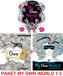 Renebook Paket My Own World Coloring Book For Adults 1 3 Mewarnai