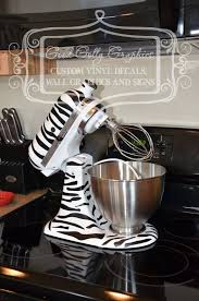 Kitchen Mixer Vinyl Decal ZEBRA PRINT By GoodGollyGraphics 1800