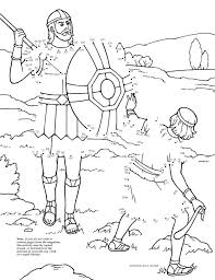 David And Goliath Dot To LDS The Friend Magazine Coloring Page