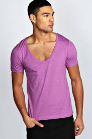 boohoo mens basic short sleeve deep v neck tee top t shirt ebay