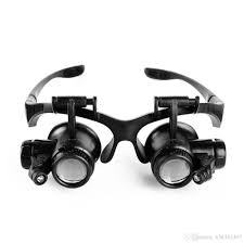 Magnifier Lamp 10x Magnification by 2017 1x Glasses Type Magnifying Glass 10x 15x 20x 25x Eye Jewelry