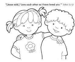 Sharing Coloring Pages Kids Page Free Printable Jesus With Others For Preschoolers