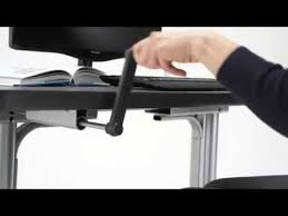 float height adjustable desk by humanscale youtube
