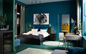 30 Buoyant Blue Bedrooms That Add Tranquility And Calm To ... Apartment Living Room Interior With Red Sofa And Blue Chairs Chairs On Either Side Of White Chestofdrawers Below Fniture For Light Walls Baby White Gorgeous Gray Pictures Images Of Rooms Antique Table And In Bedroom With Blue 30 Unexpected Colors Best Color Combinations Walls Brown Fniture Contemporary Bedroom How To Design Lay Out A Small Modern Minimalist Bed Linen Curtains Stylish Unique Originals Store Singapore