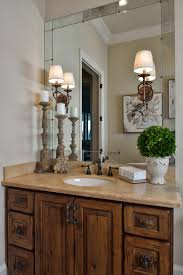 Tuscan Decorating Ideas For Bathroom by Tuscan Style Bathroom Old World Feel Antiqued Mirror Travertine
