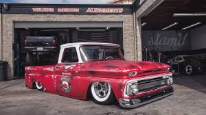 100 Socal Truck The Shop SoCal Suspensions 1966 C10 Slamd Mag