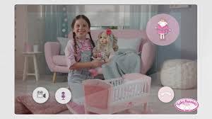 baby annabell sweet dreams puppenwiege mit schlaflied und schaukel automatik kaufen otto