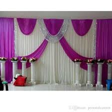 New Arrival 3m 6m Purple Wedding Backdrop Swag Party Curtain