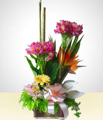 Send Flowers To Spring Rustic Flower Arrangement 2