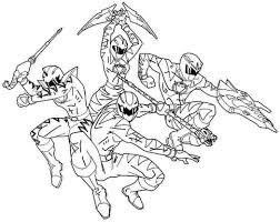 Amazing Printable Power Rangers Cartoon Coloring Books For Kids