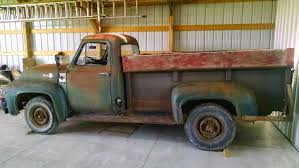 Grandpa's 55' F350 Restore - Ford Truck Enthusiasts Forums 1955 Ford F100 Street Rod Truck 1953 Pickup Stepside 54 55 56 Hot Stock Custom W 460 Racing Engine 20 Inch Rims Truckin Magazine Motor Vehicle Collections Pinterest For Sale On Classiccarscom Chevy Apache New Restoration Youtube Network