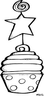 Birthday Cupcake Clipart Black And Whitebirthday Cupcake Clip Art