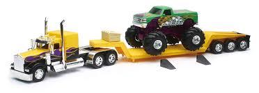 100 Toy Kenworth Trucks Amazoncom 132 W900 Lowboy With Monster Truck