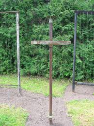 Wooden Bird House On A Pole With Clematis FunkyJunkInteriorsnet Diy Grape Vine Trellis