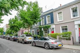 104 Notting Hill Houses In The Famous Portobello Road Market West London United Kingdom Stock Photo Picture And Royalty Free Image Image 112208240