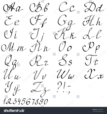 Hand Drawn English Alphabet Letters Vector Stock Vector Royalty