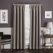 sebastian rod pocket insulated total blackout window curtain