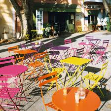 Fermob French Bistro Chairs by Endearing Fermob Bistro Chair With French Bistro Folding Chair Set