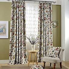 adaada 2er set romantische gardinen vintage creme vorhänge mit kräuselband klassische blickdicht vorhänge für schlafzimmer wohnzimmer stoffvorhang