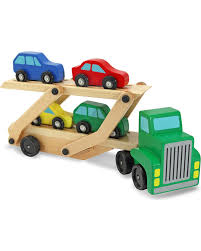 100 Toy Car Carrier Truck Melissa Doug Boys Wooden Rier Set Country Outfitter