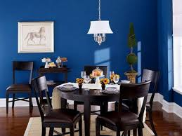 Picturesque White Shade Lamp Over Espresso Wooden Dining Table Sets As Well Grey Rugs Decorate In Midcentury Blue Room Decorations