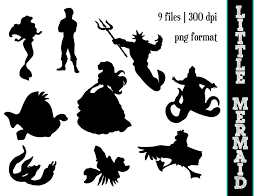 Ariel On Rock Pumpkin Carving Pattern by Little Mermaid Silhouette Cliparts Co
