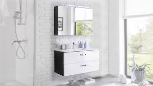 badezimmer set 2 tlg in grau weiß hochglanz mit led