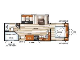 Travel Trailer Floor Plans With Bunk Beds by 2017 Forest River Wildwood Wildwood 27dbk Travel Trailer Bunkhouse