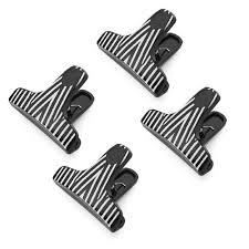 Kizmos T Shaped Zebra Print Bag Clips Set Of 4