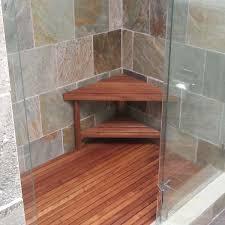 Teak Bathroom Corner Shelves by Bathroom Nice Teak Shower Bench For Bathroom Furniture Ideas
