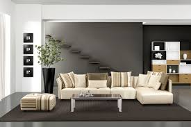 Grey Ceramic Flooring Brown Together With Living Roomcream Modern Room Picture Rooms Open Design