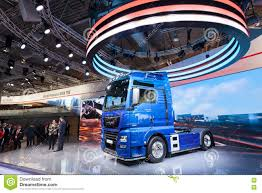 New MAN TGE Semitrailer Truck Editorial Photo - Image Of Trade ...