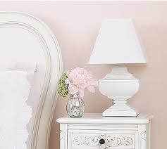 Squat Shabby Chic White Table Lamp