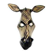 Hand Carved African Zebra Mask Handmade And Fair Trade U Go Girl NZ