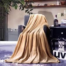 plaid taupe pour canapé plaid beige taupe velours flanelle couverture de canapé jetés de