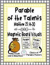 Parable Of The Talents With A Set Application Posters That Can Be Used For Preschool BibleKids Bible ActivitiesParable
