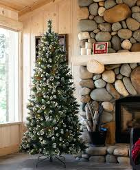 Pre Lit Pencil Christmas Tree Snow Tipped 6ft Led Trees Best