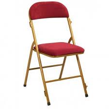 chaise de pliante chaise pliante métal velours