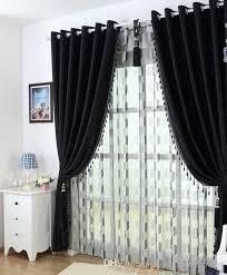 großhandel dicken schwarzen und weißen chenille vorhänge gehobenen modernen schlafzimmer wohnzimmer vorhangstoff xiangxiangtextile 26 3 auf
