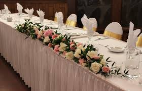 My Favorite Decor From The Wedding Was Head Table Garland It Did Not Extend Full Length Of But Instead Highlighted Area In Front