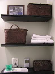 Bathroom Wall Mounted Cabinet With Towel Bar by White Floating Cabinet Over Toilet With Shelf And Towel Bar