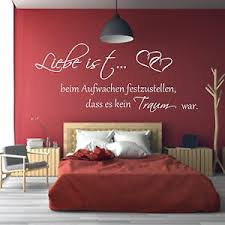 details zu wandtattoo schlafzimmer liebe ist beim aufwachen wandspruch wandaufkleber