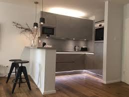 ideen für die küchen einrichtung offene einbauküche mit