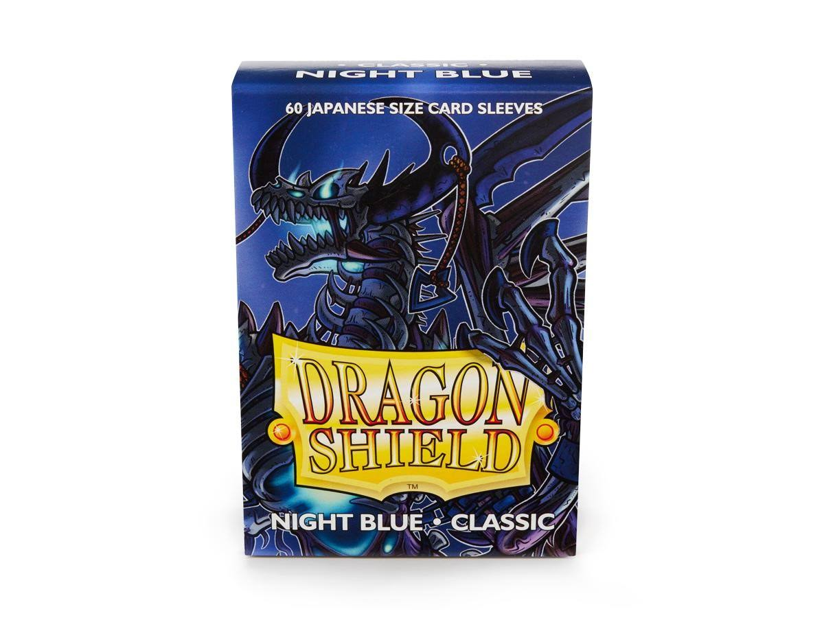 Dragon Shield Night Blue Classic Card Sleeves - Japanese Size, x60