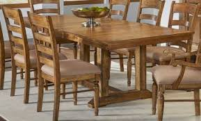 A America Furniture Bennett Rectangular Trestle Table In Smoky Quartz BENSQ6300