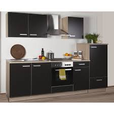 küchenzeile litra 270 cm lava melamin sonoma eiche kühlschrank rechts