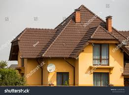 100 Modern Stucco House Top Big Expensive Residential Stock Photo Edit