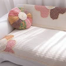 Sofa Cover Rustic Cushion Fabric Cotton Towel Wood Thickening Couch Flower
